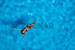 Hispanic Brunette Model At The Pool