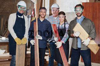 Team Schreiner und Holzarbeiter