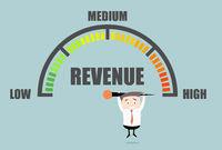 Businessman Revenue Meter