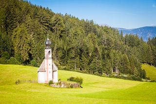 The Church of San Giovanni in Dolomiti Region - italy
