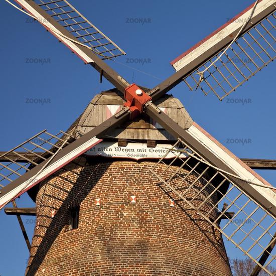 mill Geis, Krefeld, Lower Rhine, North Rhine-Westphalia, Germany, Europe
