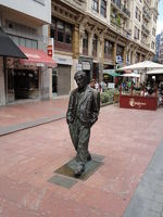 downtown Oviedo, Spain, Woody Allen