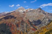 Caucasus region in Russia Mountain peaks in clouds