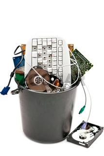 Hardware in bin