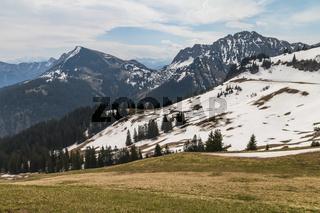 Aussicht Hoehe Bergstation Neunerkoepfle, Tannheim