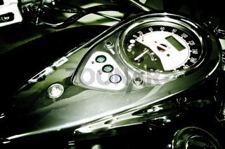 Motorrad Tank mit Tacho