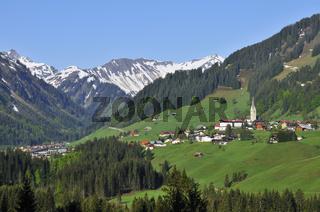 Mittelberg, Kleinwalsertal, Österreich Austria