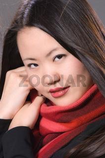 young asian girl, junge asiatische Frau