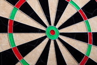 Perspective Image Of Empty Cracked Darts Board