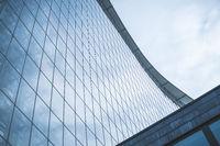 building exterior , modern glass facade
