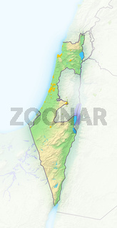 Israel, Reliefkarte.