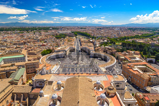 Rome city skyline, Italy