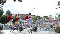 town festival Eisenhüttenstadt with show