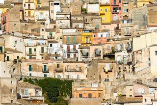 Detail der Altstadt von Ragusa Ibla in Sizilien