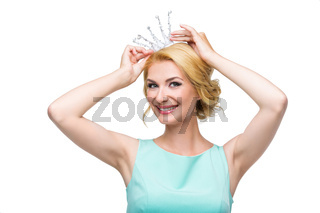 Woman with princess crown