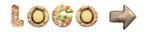 gebäck buchstaben kekse logo