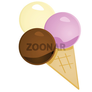 Glossy ice cream