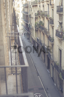 Ein Blick über eine Straße mitten in Barcelona.