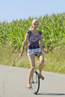 Einrad-Fahren