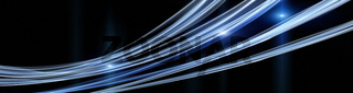 Futuristic technology wave panorama background design with lights