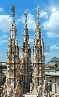 The sunshiny Milan Cathedra roof