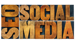 SEO and social media word abstract