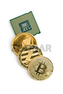 Bitcoin, ethereum, litecoin and CPU.