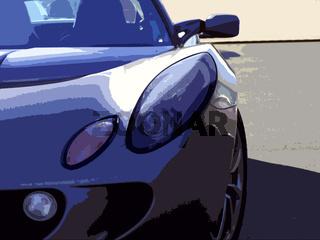dynamischer Sportwagen