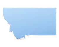 Montana(USA) map