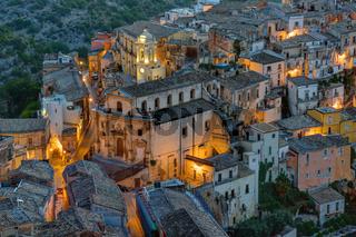 Teil der Altstadt von Ragusa Ibla am frühen Morgen