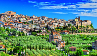City of Chianciano Terme in the province of Siena in Tuscany