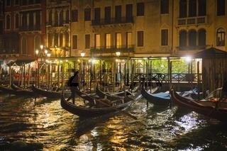 Evening View of Venice near Rialto Bridge