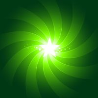 Vibrant green light burst background with shiningcenter star