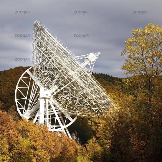 Efflelsberg Radio Telescope in Ahr Hills in autumn, Bad Muenstereifel, Germany, Europe