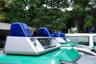 Blaulichter von Polizeiautos