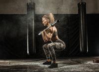 Sporty girl on gym