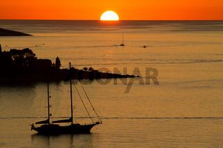 Sonnenuntergang in Cavtat 002. Kroatien