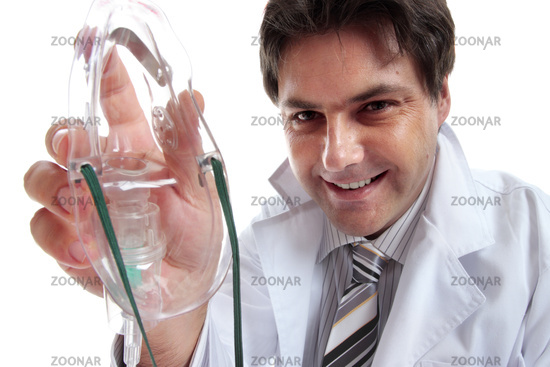 Male doctor or anesthetist