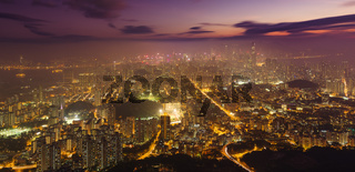 Hong Kong ksyline at night