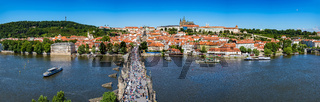 Prague panorama city skyline