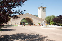 Napa, CA/August, 2015: Mondavi Winery Building has a huge white arch in Napa Valley of California.