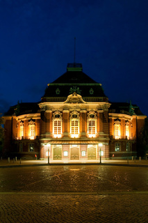 Laeiszhalle - Musikhalle Hamburg am Abend