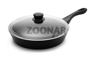 Frying pan and glass lid