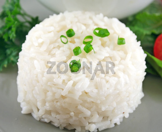 Rice Stack With Garnish