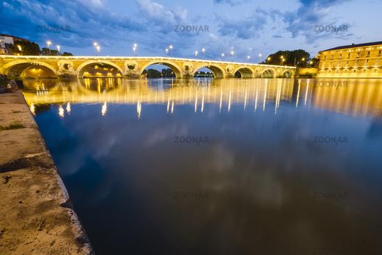Pont Neuf bridge River Garonne, Toulouse, France