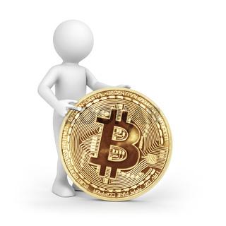 man and bitcoin