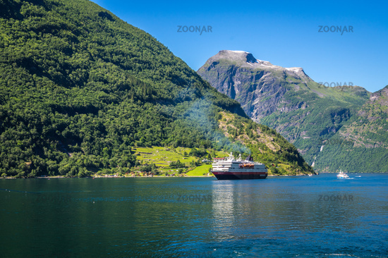 At the Geirangerfjord