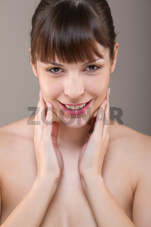 Body care: Portrait of beautiful woman