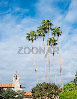 Bell tower in San Juan Capistrano mission