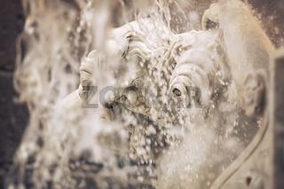 Detail of the Amenano fountain